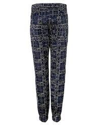 Ostwald Helgason - Blue Pixel Denim Detailed Pants - Lyst