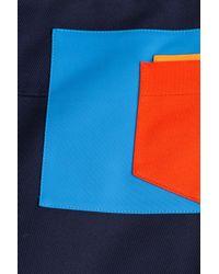 Jil Sander Navy - Blue Editha Cotton Gabardine Skirt - Lyst