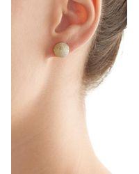 Carolina Bucci - Metallic 18k Gold Sparkly Half-ball Earring - Lyst