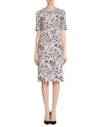 Mary Katrantzou | Pink Printed Silk Dress | Lyst