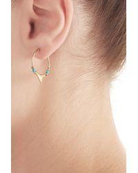 Aurelie Bidermann - Metallic Shark 18kt Yellow Gold Earrings With Turquoise - Lyst