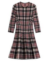 Alexander McQueen - Black Tartan Wool Dress - Lyst