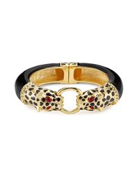 Kenneth Jay Lane | Multicolor Resin Leopard Bracelet | Lyst