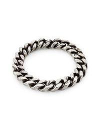 Werkstatt:münchen | Metallic Sterling Silver Curb Chain Tool Traces Bracelet | Lyst
