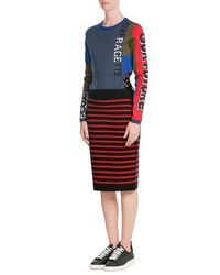 Marc By Marc Jacobs | Red Striped Merino Wool Skirt | Lyst
