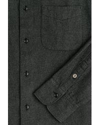 Rag & Bone - Black Cotton And Wool Shirt for Men - Lyst