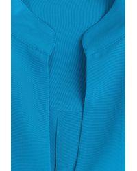 Etro - Blue Silk Tunic Blouse - Lyst