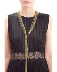 Agnona - Metallic Slip-chain Tassel Bracelet - Gold - Lyst