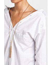 Agnona | Metallic Tassel Bracelet | Lyst