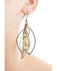 Aurelie Bidermann | Metallic Gold-plated Leaf Earrings | Lyst