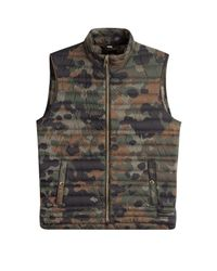 Burberry | Green Printed Down Vest for Men | Lyst