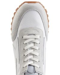 Marc Jacobs - Gray Leather And Suede Sneakers for Men - Lyst