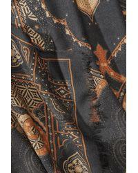 Etro - Multicolor Silk-cashmere Printed Scarf - Lyst