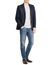 Etro - Blue Cotton Blazer With Wool for Men - Lyst