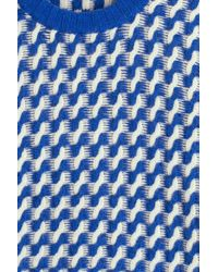 Golden Goose Deluxe Brand - Blue Merino Wool Patterned Knit Pullover - Lyst