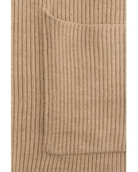Polo Ralph Lauren - Natural Wool Cardigan With Buckle - Lyst