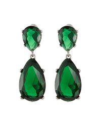 Kenneth Jay Lane - Green Embellished Earrings - Lyst