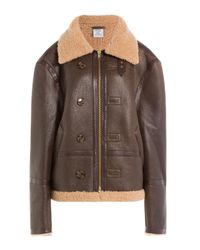 Vetements | Brown Shearling-lined Leather Jacket | Lyst