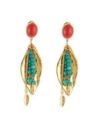 Aurelie Bidermann - Blue Pendant Earrings With Stones - Lyst