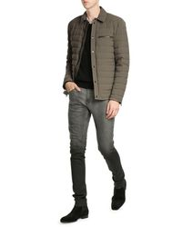 VINCE | Green Quilted Down Shirt-jacket for Men | Lyst