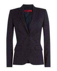 HUGO   Blue Amiesa Virgin Wool Blazer   Lyst