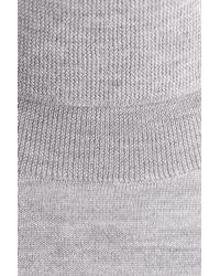 HUGO - Gray Virgin Wool Turtleneck Pullover - Lyst
