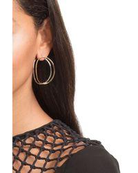Delfina Delettrez - Metallic Big Ear-clipse Hoop Earrings In 18kt Gold - Lyst