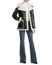 Derek Lam | Black Leather And Shearling Jacket | Lyst
