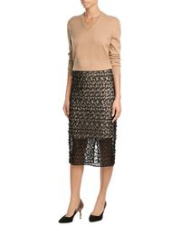 By Malene Birger | Black Textured Lace Pencil Skirt | Lyst