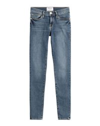 FRAME - Blue Jeans De Jeanne Skinny Jeans - Lyst