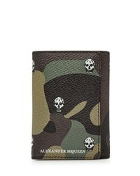 Alexander McQueen | Black Printed Leather Wallet for Men | Lyst