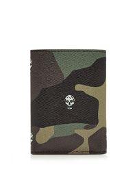 Alexander McQueen - Black Printed Leather Wallet for Men - Lyst