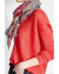 Etro - Multicolor Scarf With Cashmere And Silk - Lyst