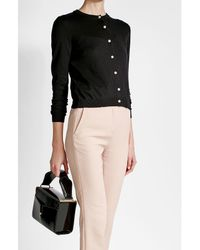 Boutique Moschino - Black Cardigan With Virgin Wool And Cotton - Lyst