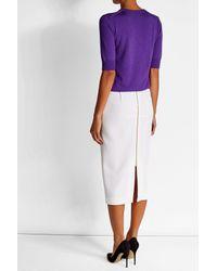 Nina Ricci - Purple Wool Pullover With Silk - Lyst