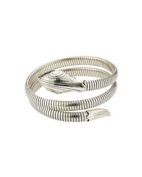 Gas Bijoux - Metallic Serpent Silver Plated Bracelet - Lyst