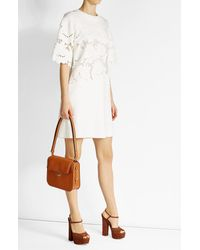 Victoria, Victoria Beckham   White Dress With Embroidered Cut-out Detail   Lyst