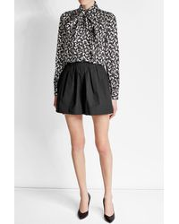 Marc Jacobs | Black Pleated Shorts With Cotton | Lyst