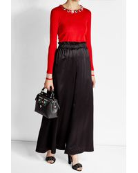 Fendi - Black Small Dot Com Bag With Face Detail - Lyst
