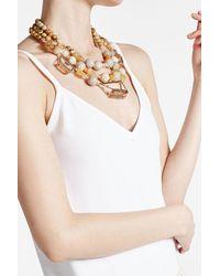 Alexis Bittar   Metallic Beaded Triple Strand 10k Gold Necklace   Lyst