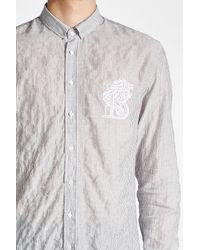 Balmain - Multicolor Embroidered Cotton Shirt for Men - Lyst