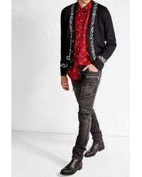 Alexander McQueen - Multicolor Printed Cadigan With Wool, Silk And Cashmere for Men - Lyst