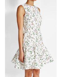 Giambattista Valli   White Printed Dress With Silk   Lyst