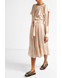 See By Chloé | Natural Ruffled Blouse | Lyst