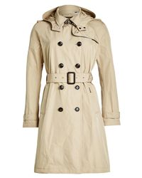 Woolrich - Natural Fayette Trench Coat With Hood - Lyst