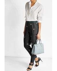 Valextra | Blue Leather Tote | Lyst