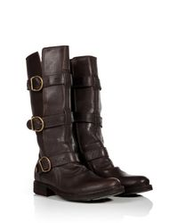 Fiorentini + Baker - Black Leather Buckled Boots - Lyst