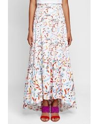 Peter Pilotto - Multicolor Printed Cotton Maxi Skirt - Lyst