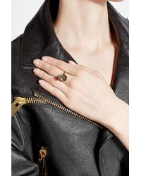 Marc Jacobs - Metallic Logo Disc And Strawberry Charm Ring - Lyst
