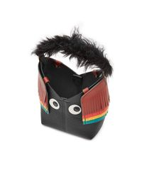 Anya Hindmarch - Multicolor Mini Build A Bag Creature Leather Tote With Lamb Fur - Lyst